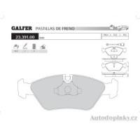 GALFER přední brzdové desky typ FDA 1045 PORSCHE 928 4.7 S 16V -- rok výroby 81-83 ( brzdový systém ATE )