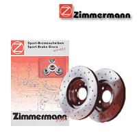 Zimmermann zadní sportovní brzdové kotouče -vzduchem chlazené PORSCHE 968, 968 Cabriolet  -motor 3.0 -- rok výroby 06.91-11.95